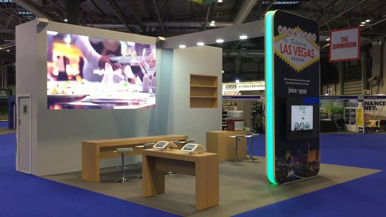Exhibition Stand Interactive : Exhibit interactive exhibition stand for jewson juice at