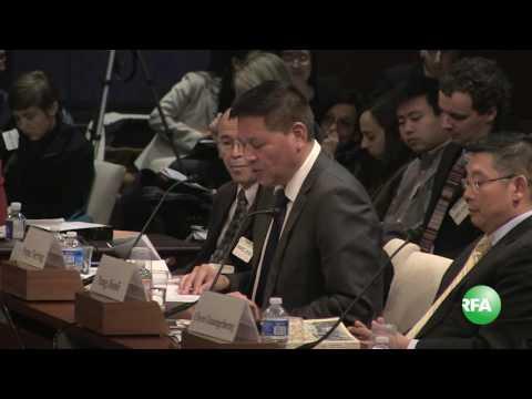 North America Tibetan Representative Mr. Penpa Tsering Testifying at CECC hearing