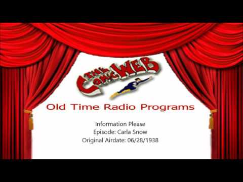 Information Please: Guest Carla Snow -– ComicWeb Old Time Radio