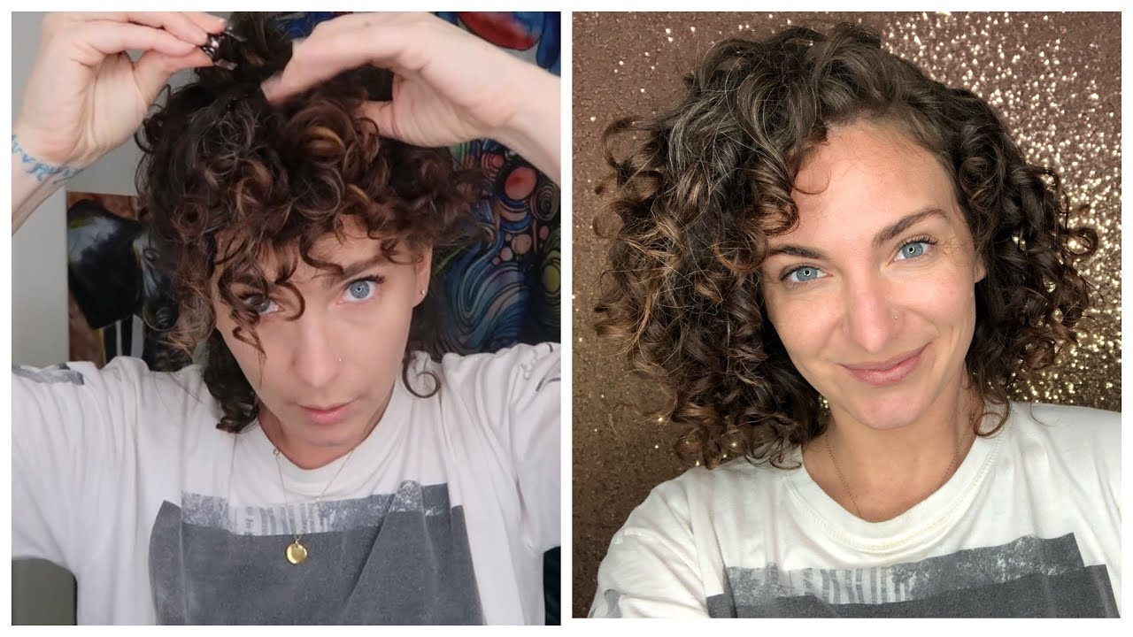 Sleeping Curly Medusa Clipping Sleep Routine For Short Curly Hair