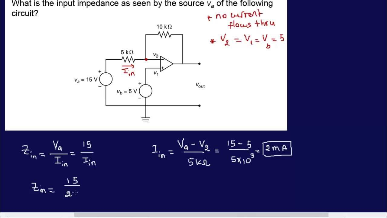 opamp circuit analysis example 2 fe eit review youtube