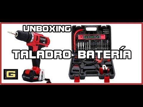Unboxing TEENO taladro batería 21V+41 accesorios / prueba de perforación madera,metal,pared