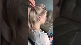Как сделать высокий пучок? Высокая свадебная причёска
