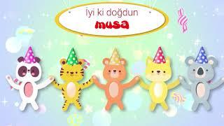 İyi ki Doğdun MUSA - İsme Özel Kırmızı Balık Doğum Günü Şarkısı