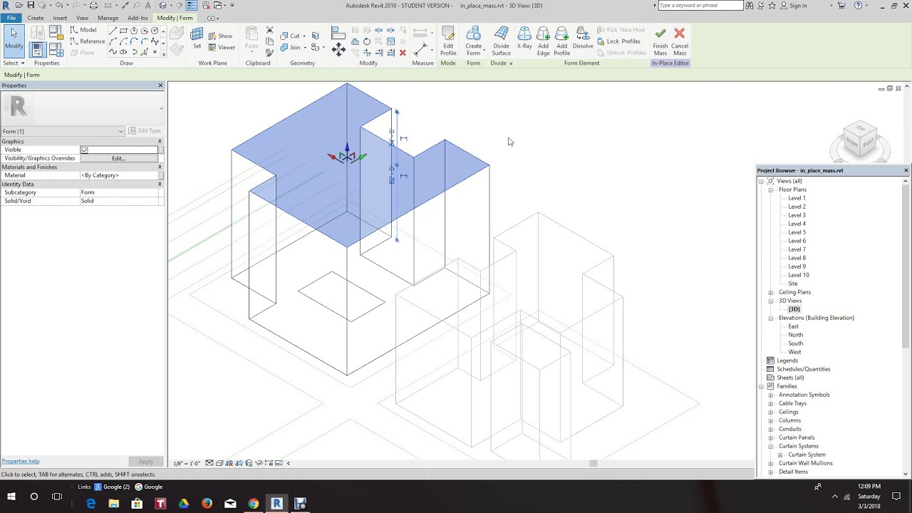 Revit Creating in place mass forms