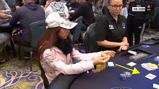 EPIC poker hand at PSPC - Thi Xua Nguyen folds FULL HOUSE