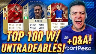 TOP 100 ON FUT CHAMPIONS w/ RED MONTHLY REWARDS TEAM + UNTRADEABLES!!