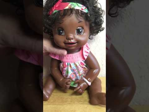 Baby Alive Learns To Potty Doll 2007 African American Soft