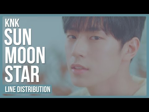 KNK - Sun.Moon.Star (해.달.별) Line Distribution (Color Coded)