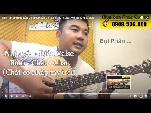 [Valse] Bụi Phấn - Guitar Hướng Dẫn Điệu Valse
