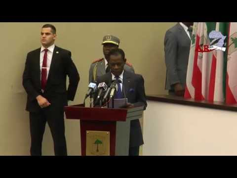 CEREMONIE A SIPOPO MALABO : PRIX UNESCO GUINEE EQUATORIALE AVEC OBIANG NGUEMA
