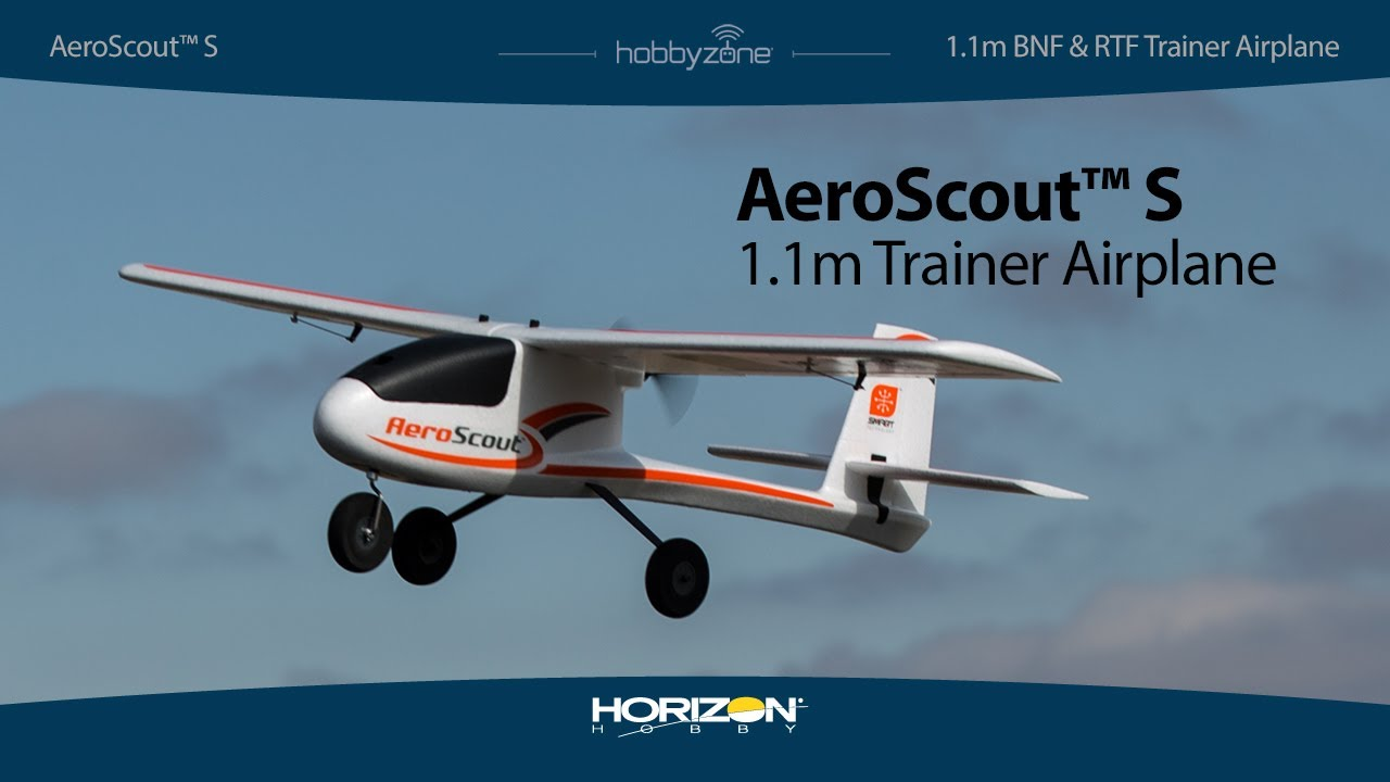 HobbyZone® AeroScout™ S RTF & BNF Basic Trainer Airplane