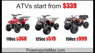 powersportsmax.com atvs pit bikes go karts scooters start from $254