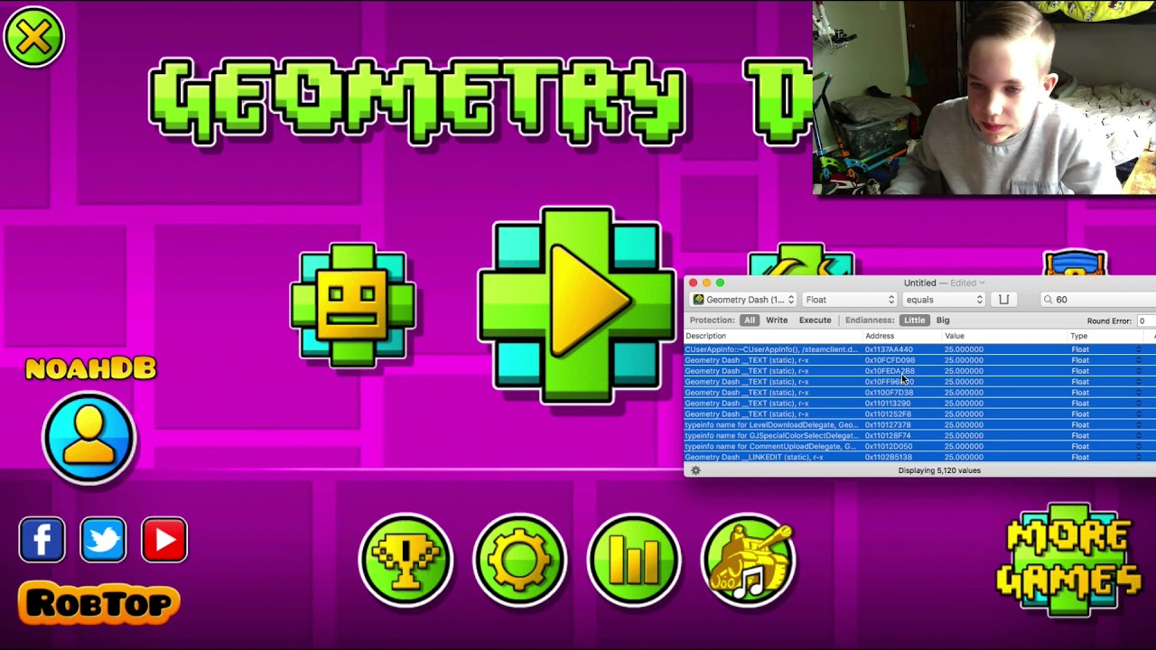 Experimenting With Bit slicer | Geometry Dash