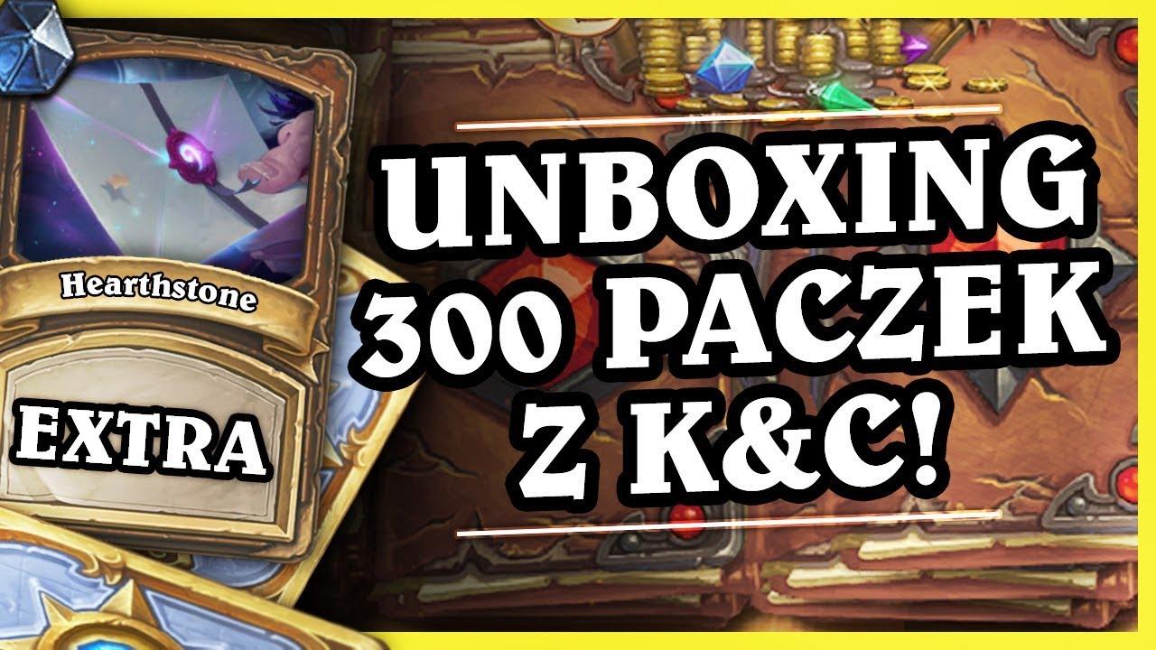 UNBOXING 300 PACZEK Z K&C! – Hearthstone Extra