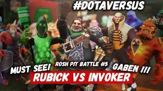 ROSH PIT BATTLE #5 | RUBICK vs INVOKER | DOTA VERSUS RAP BATTLE