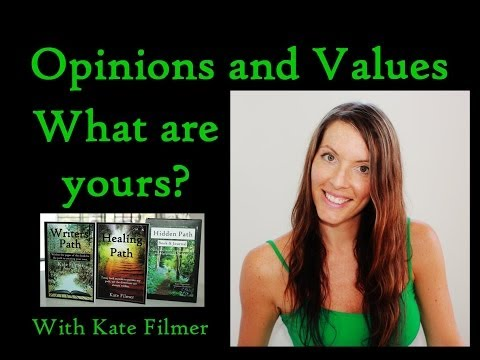 Opinions & Values. STRONG OPINIONS and your personal values system.