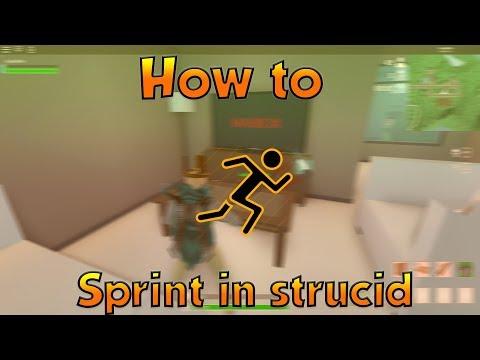 How to Sprint in strucid...(roblox fps unlocker)