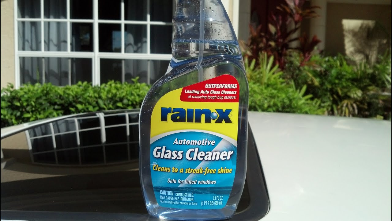 Rain X Automotive Glass Cleaner Review and Test Results on my 1991