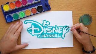 How to draw a Disney Channel logo