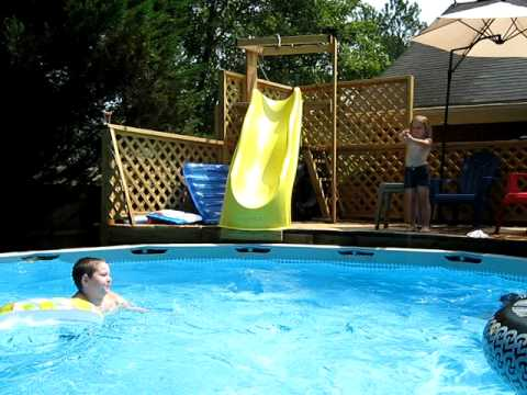 Inflatable Pool Slide Intex intex slide - youtube