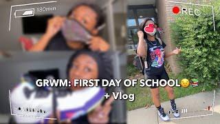 GRWM: FIRST DAY OF SCHOOL + VLOG       Freshman Year 2020 (Rona edition🦠)