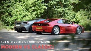 Ferrari 348 GT Competizione vs 488 GTB