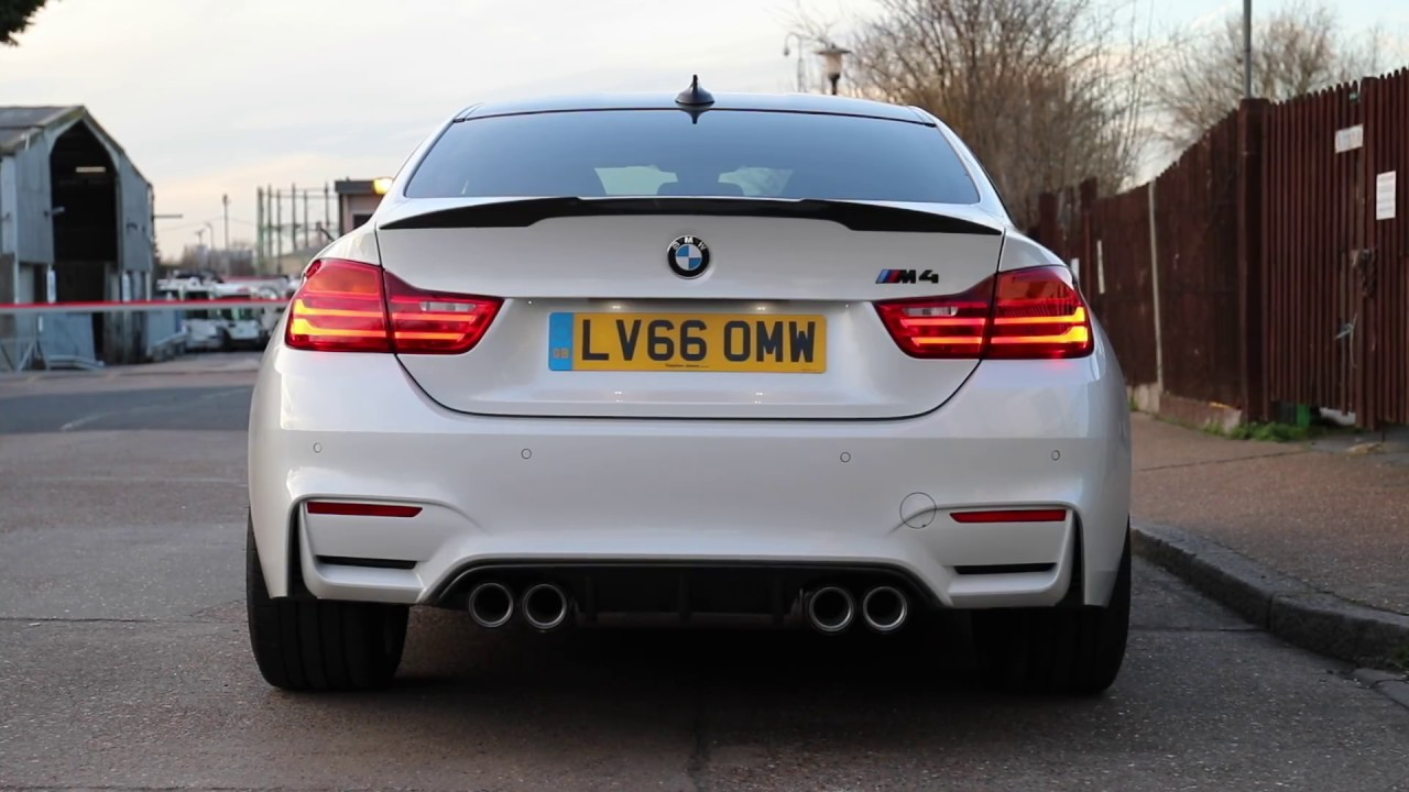 M4 Competition Package >> BMW M4 M Performance Exhaust Sound - Pops & Bangs!!! - YouTube