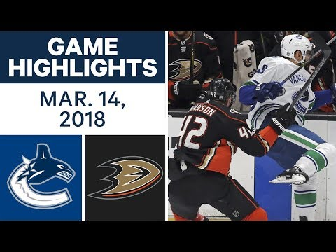 NHL Game Highlights | Canucks vs. Ducks -...
