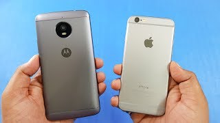 Moto E4 Plus vs iPhone 6 Speed Test Comparison | Which is Faster!