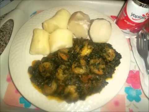 Folong Saute Aux Crevettes Cameroun Youtube