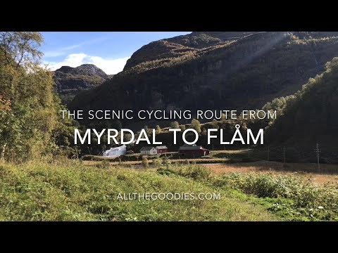 The scenic cycling route from Myrdal to Flåm, Norway