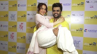 Manish Paul and Elli Avram Oops Moment at Shoot Of Break A Leg Season 2