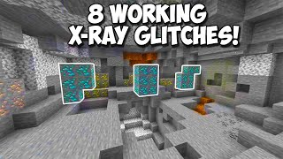 "8 Working Minecraft Bedrock XRAY Glitches! ""PS4, XBOX, MCPE, PC, SWITCH"""