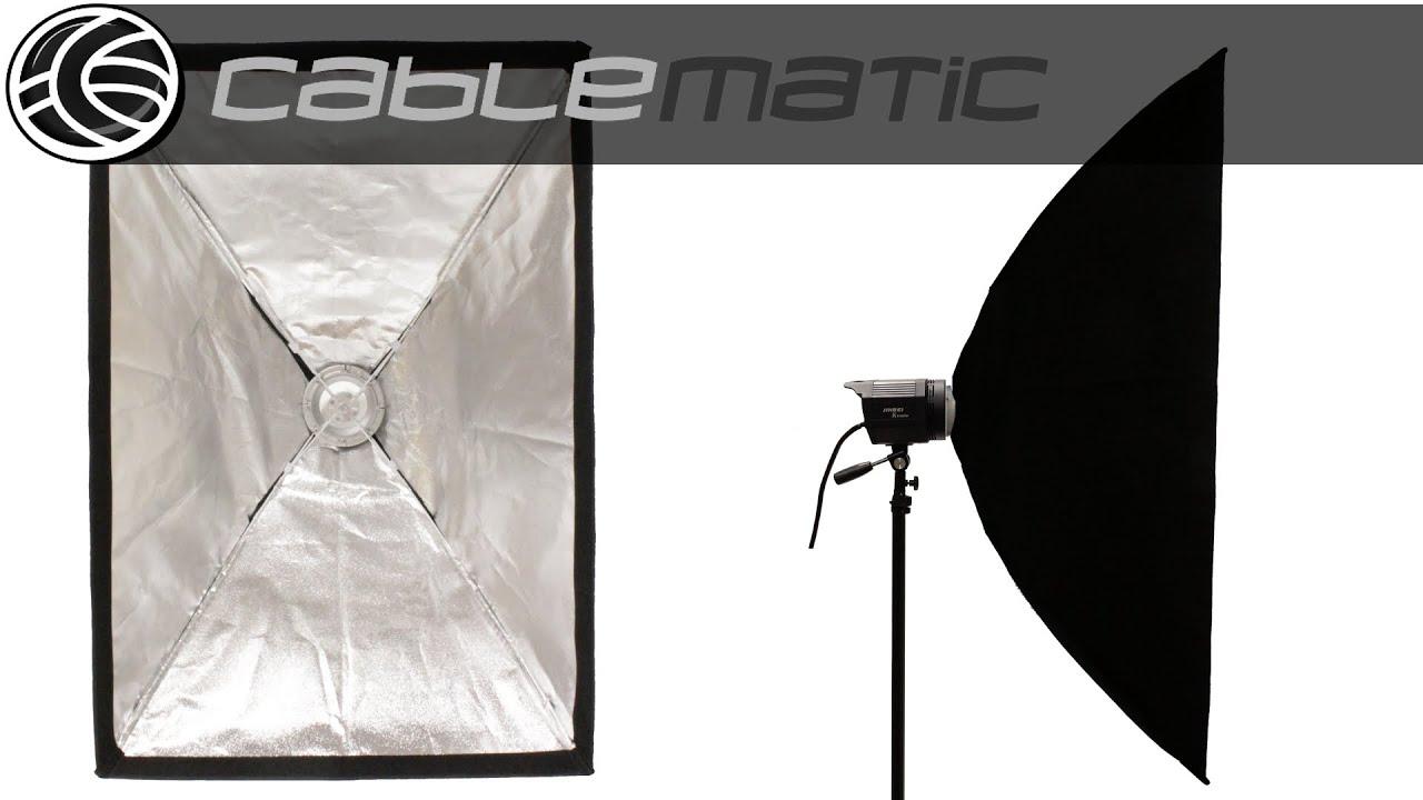 Fot-R 80x120cm Softbox Bowens Monte Tipo S Anillo de velocidad Paño gamuza de iluminación