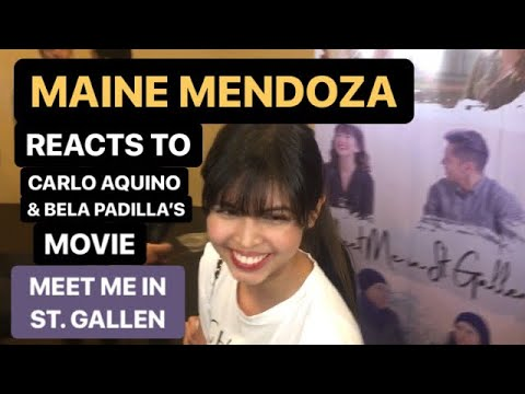 MAINE Mendoza reacts to CARLO Aquino and BELA Padilla's Meet Me in St. Gallen