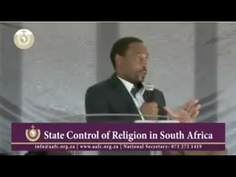 Public Debate on the State Control of Religion in South Africa