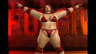 Sara Duchamp - female wrestler entrance at the Amazon Club
