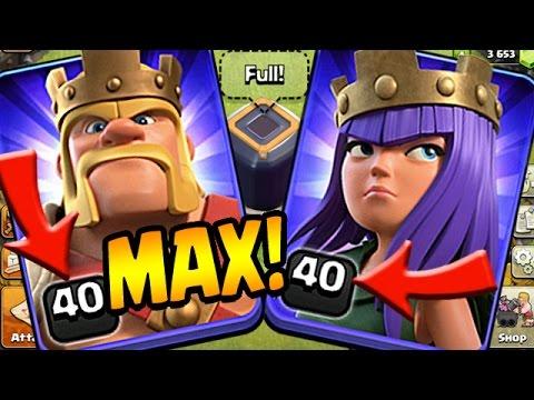 Clash Of Clans: MAX HEROES BABY!!!  TH10 Farm To Max Quadlaloon DE Farming