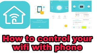 How to Control Your Wi-Fi Router Using Your Smartphone || Tp-Link -review||