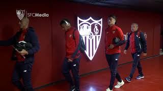 Llegada Sevilla FC previa Atlético de Madrid. 25/02/18