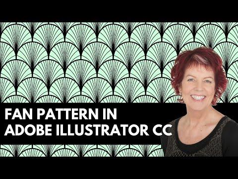 Illustrator - Curved Fan Pattern