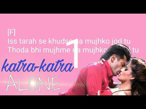 Katra Katra karaoke song with lyrics With Female Voice (Alone)