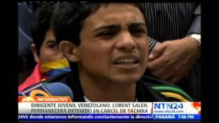 Lorent Saleh permanecerá retenido en la cárcel de Santa Ana en el estado Táchira