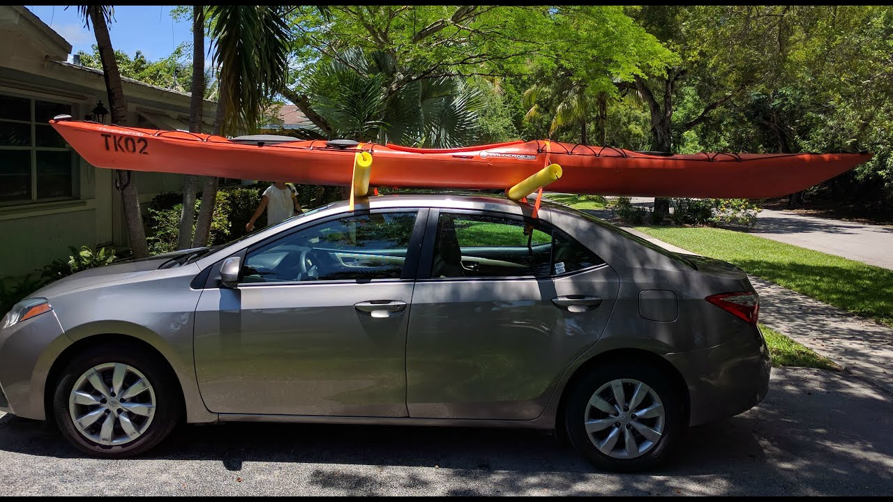 Kayaks On A Car