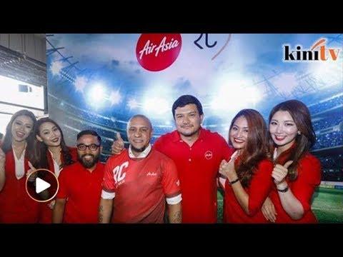 Lagenda bola Roberto Carlos dilantik duta global Air Asia