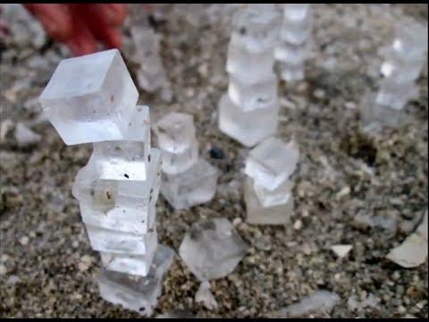 Dead sea amazing natural phenomenon - DeadSea salt cubes