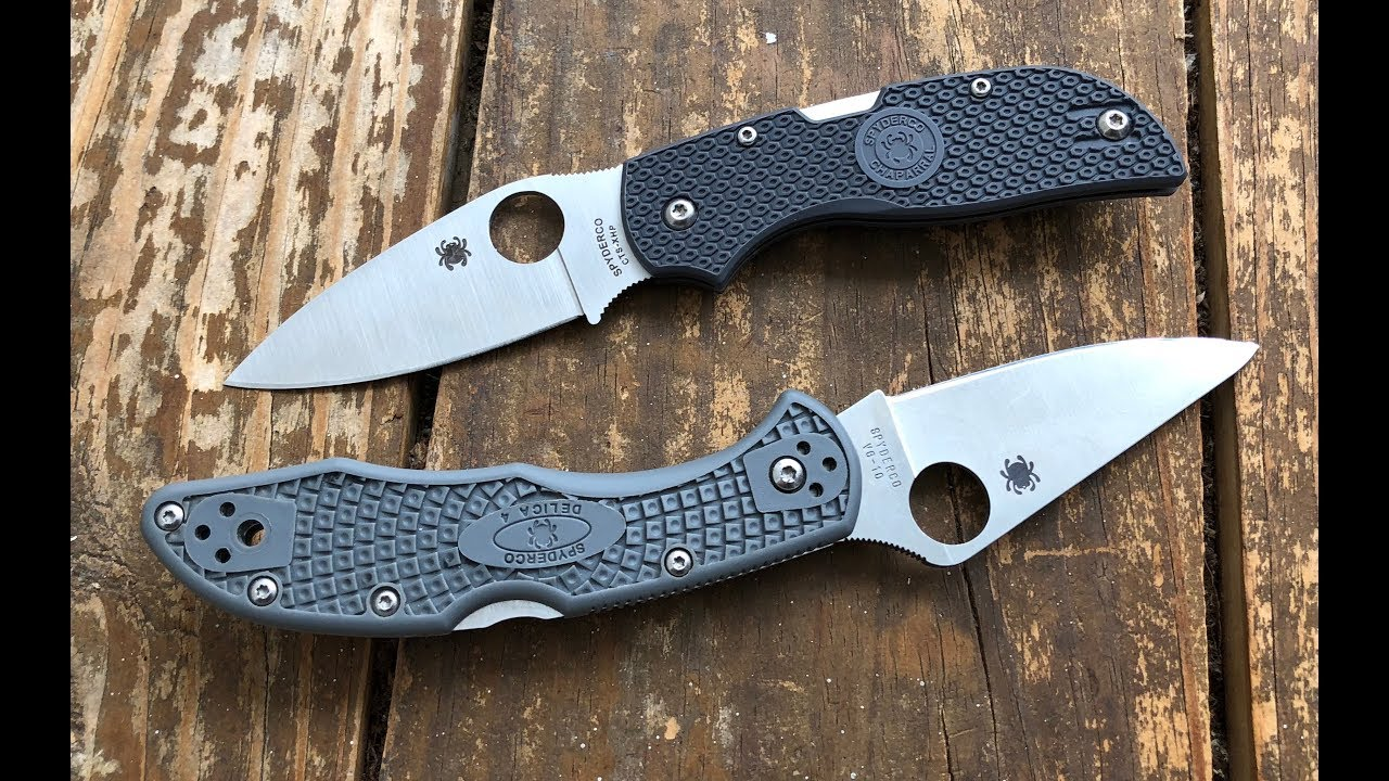 Comparing the Spyderco Delica and FRN Chaparral Pocketknives by Nick Shabazz