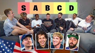 SIDEMEN RATE USA YOUTUBERS