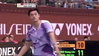 Yonex Open Chinese Taipei 2016 | Badminton F M5-MD | Li/Liu vs Chen/Wang